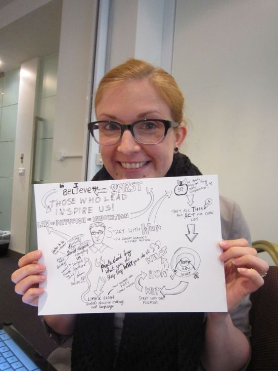 Me with my first sketchnote attempt