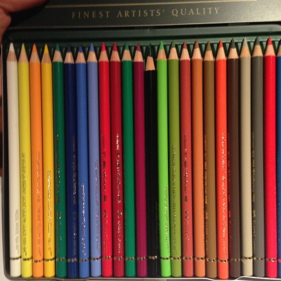 My trusty set of Faber Castell pencils... now I need more!