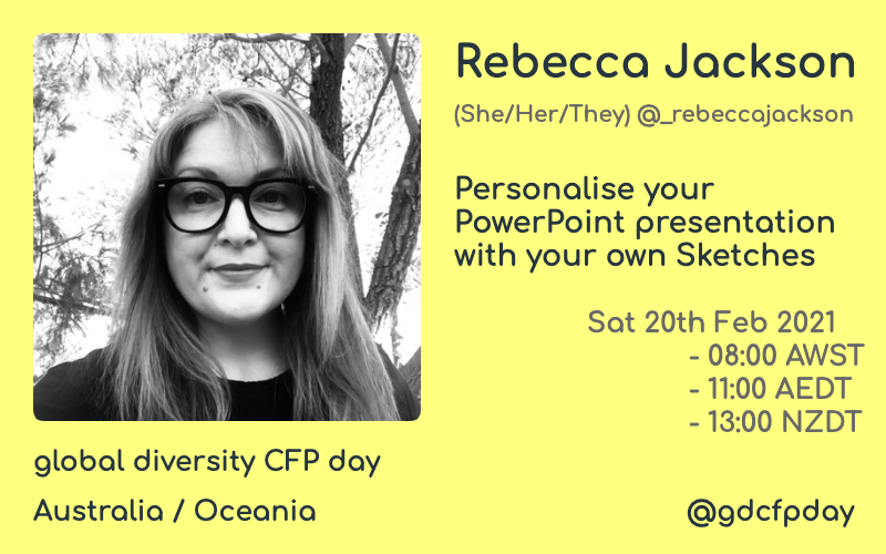 Personalise your presentations at Global CFPDay