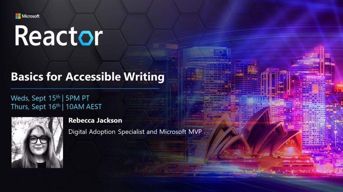 Event: Basics for AccessibleWriting